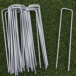 1000 Pack Galvanized Steel Metal Ground Pegs U Pins Staples for Weed Control Fabric