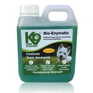 K9 Turf Bio-Enymatic Artificial Grass Cleaner, Deodoriser and Ground Maintainer, Controls Toxic Ammonia, Effective on Latex and Urethane Backed Artificial Lawns. Trade Professional Strength 1000ml